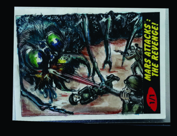 Topps Mars Attack Return Card  kill