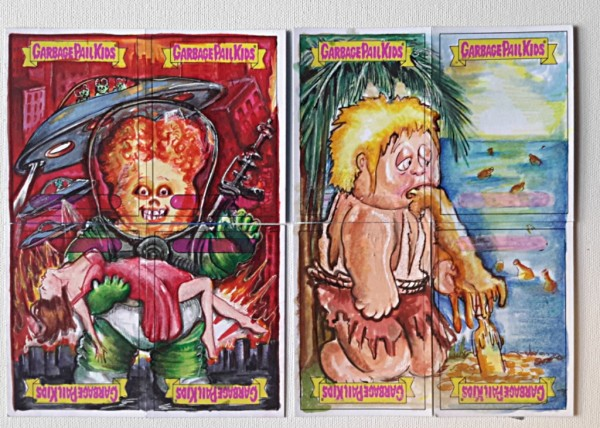 GARBAGE PAIL KIDS PUZZLE  SKETCH CARDS TRADING CARD 80S