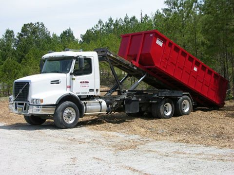 Mulch Topsoil Container Service Delivery Trucks