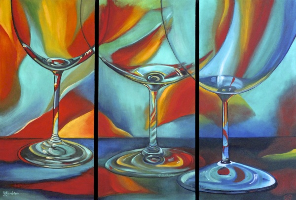 GlassScape Oil on wood panel 20X30