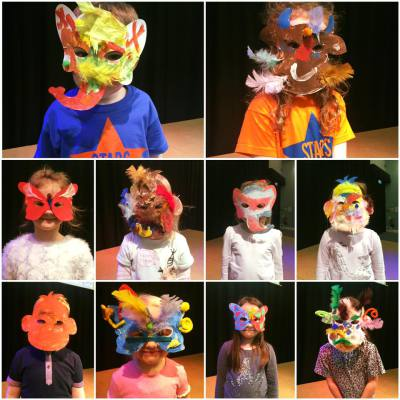 Jungle Book masks.