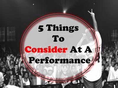 5 Things To Consider At A Performance - SkillMusicSA