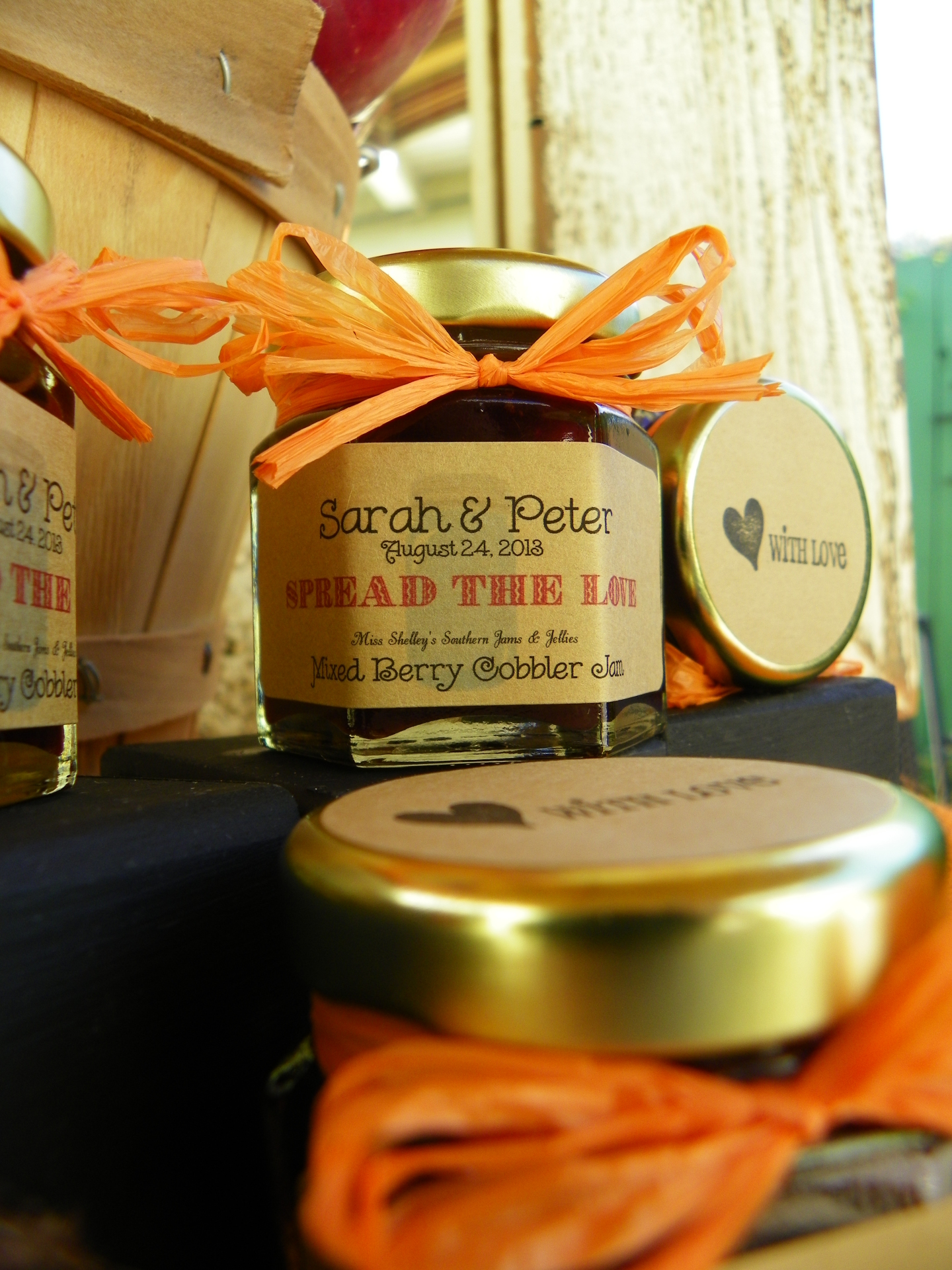 Rustic Wedding Jam Favors - Georgia Peach Collection