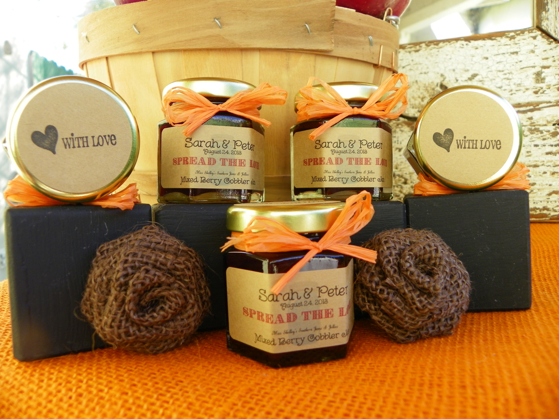 Fall in Love Jam Favors - Fall Collection