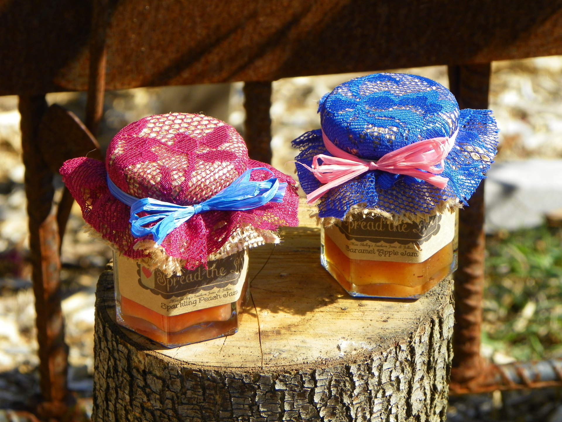 Burlap and Lace Collection Jam Favors