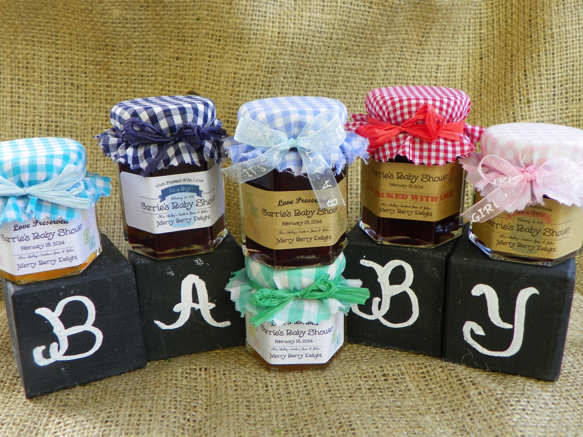Baby Shower Jam Favors - Love is Homemade Collection