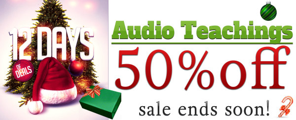 Audio Teachings 50% Off