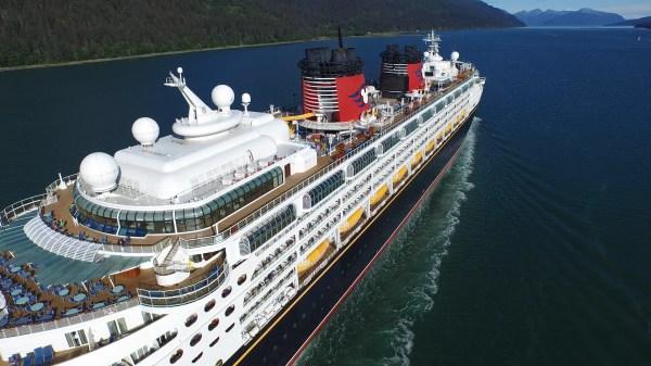 The Disney Cruise Ship leaving Juneau; Summer 2015