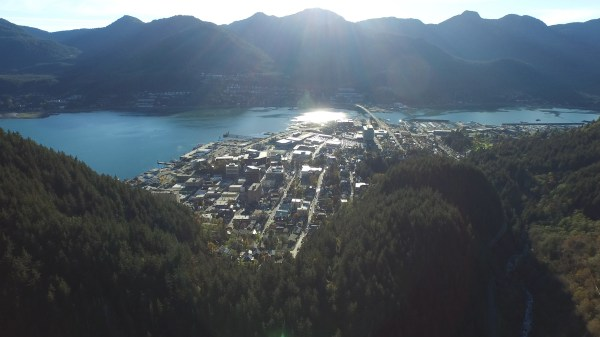 Downtown Juneau from Last Chance Basin
