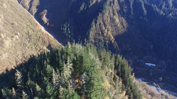 Fall day:  flying high at Basin