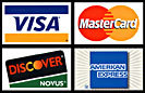 Credit cards accepted at FEEL the BODY are Visa, Mastercard, Discover Card and American Express