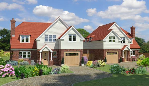 new build detached homes designed by us