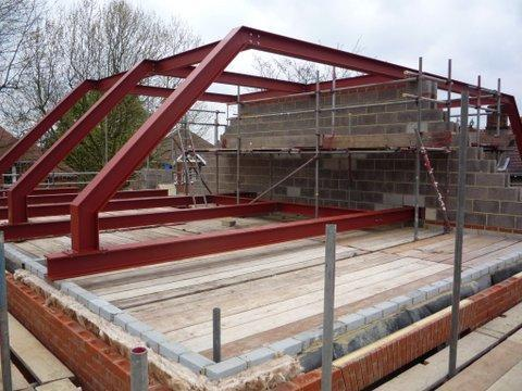 new build roof construction for project in Wimbledon, London