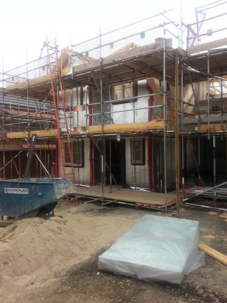 new build timber frame construction by southern timber