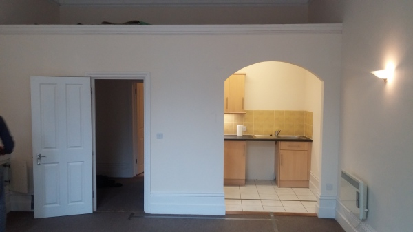before shot of studio apartment in Hove East Sussex