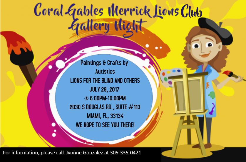 Coral Gables Merrick Lions Club Gallery Night