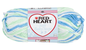 Red Heart Soft Baby Steps Prints Pupply