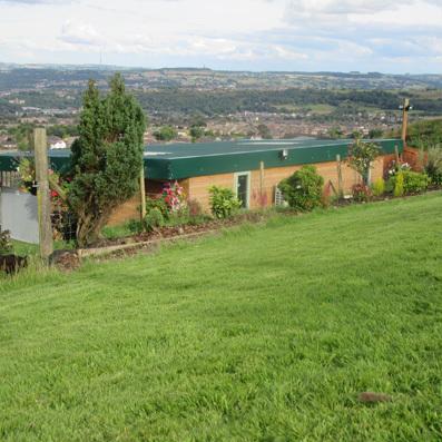 Hollin Hall boarding Kennel Huddersfield heated kennel with run
