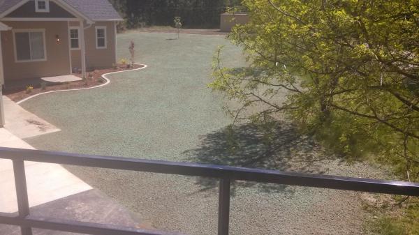 Backyard hydroseeding