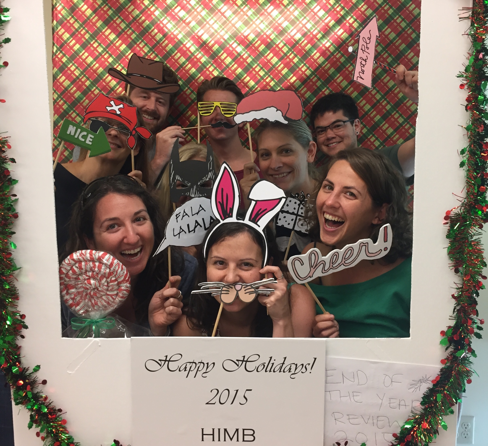 The Gates Lab attends the 2015 HIMB End of Year Review.
