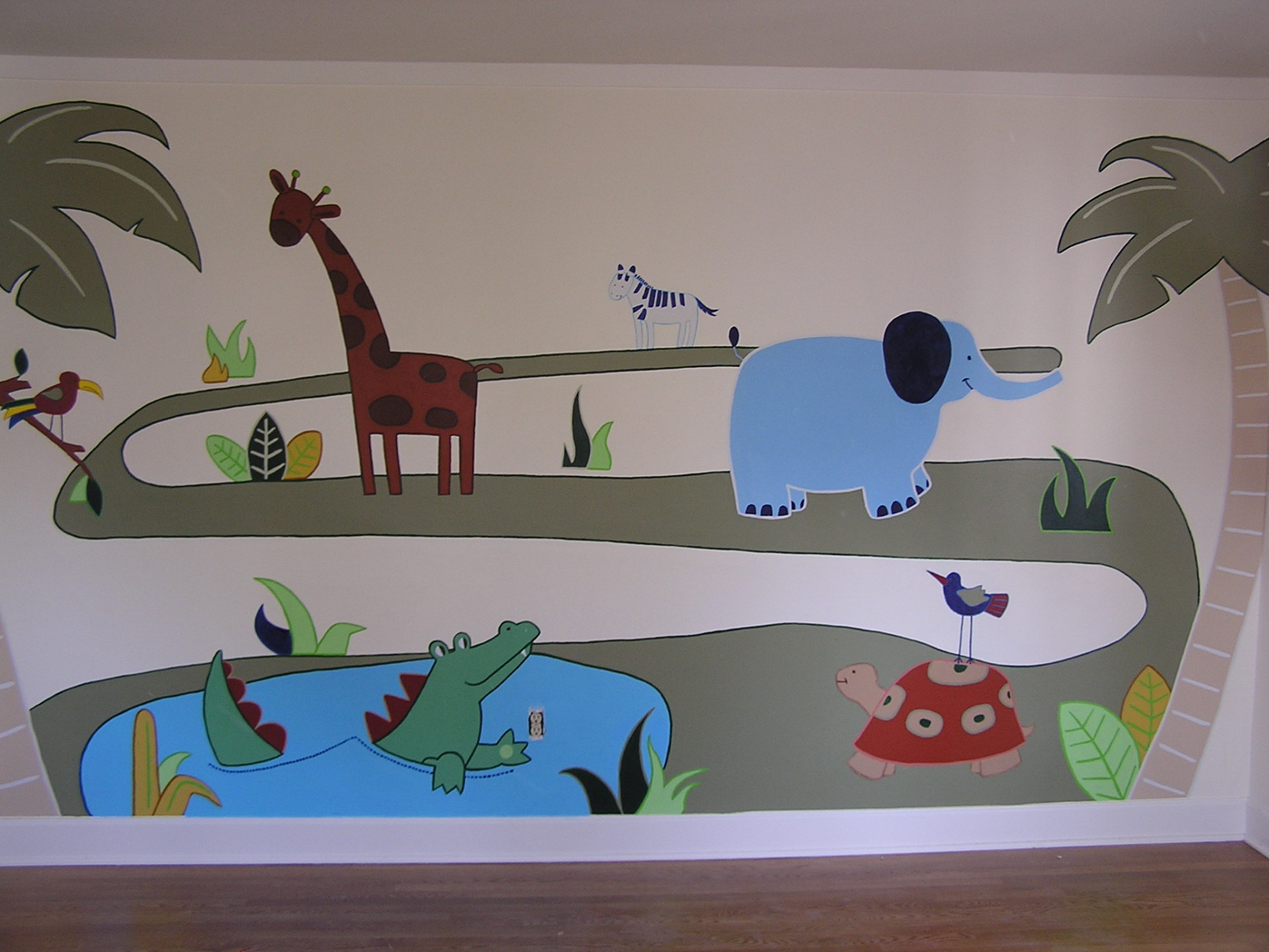 Toddler Bedroom Wall Mural