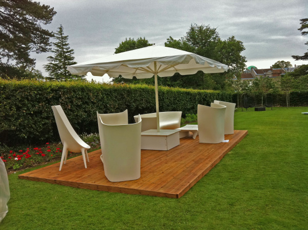 Beautiful summer garden decking midlands