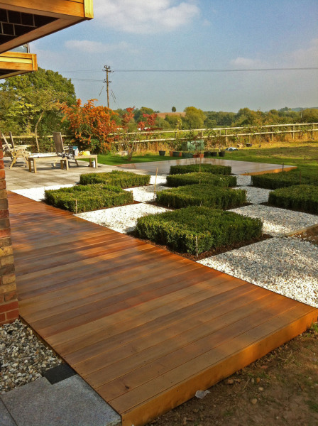 pretty garden landscape with decking