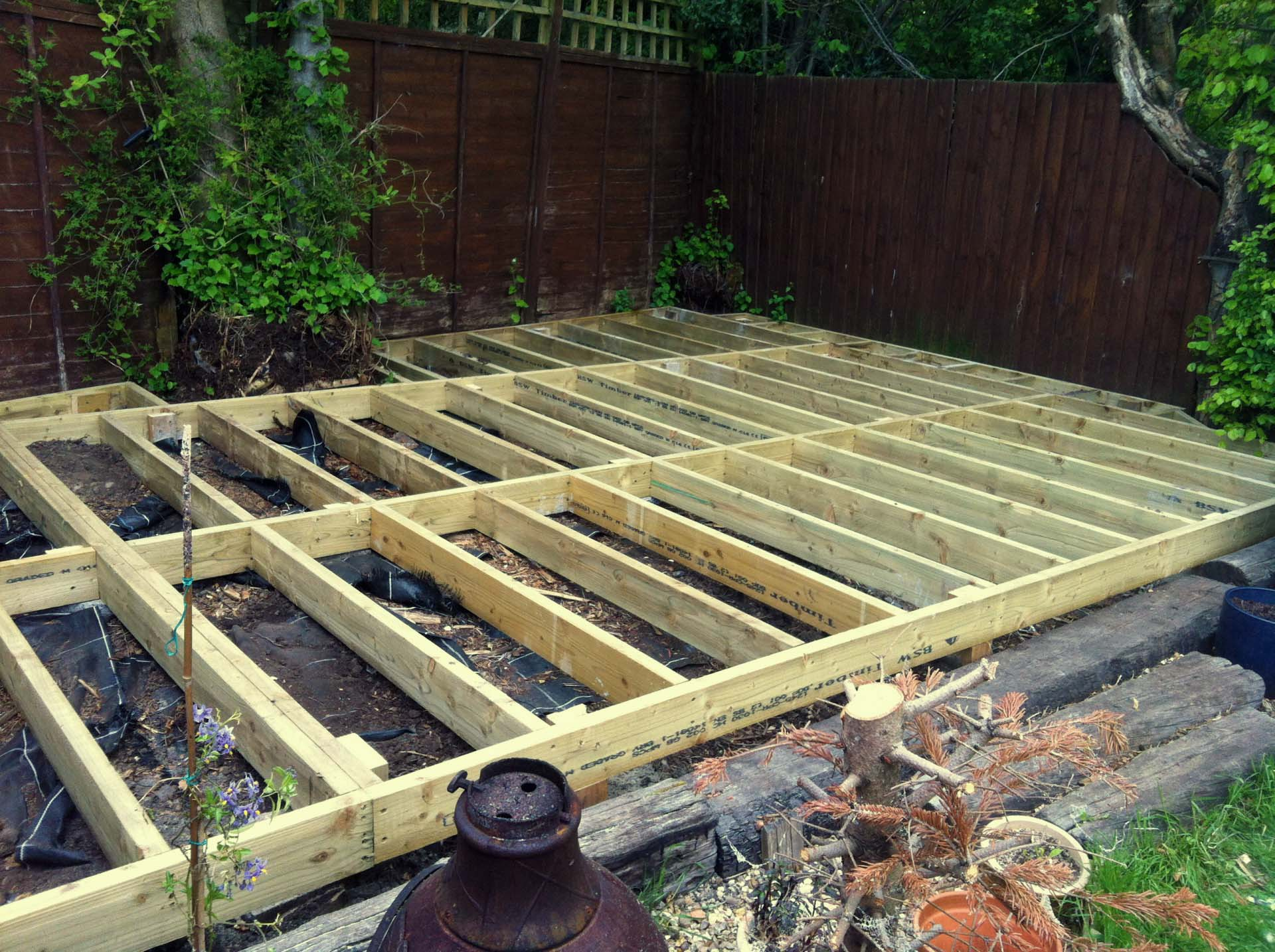 decking frame manufacture redditch
