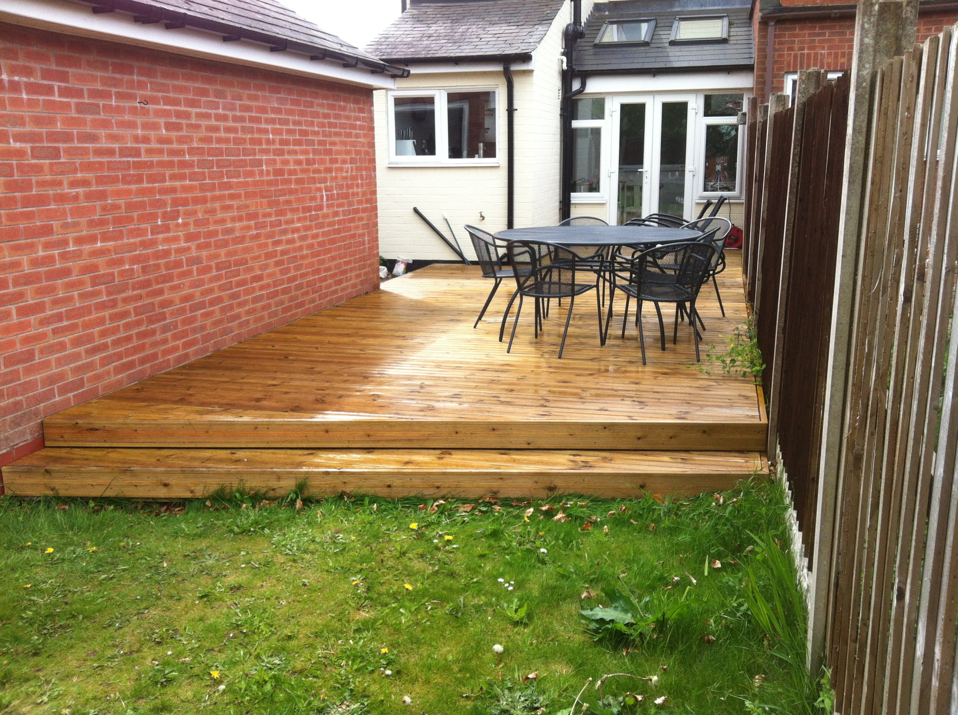 small garden decking solution studley
