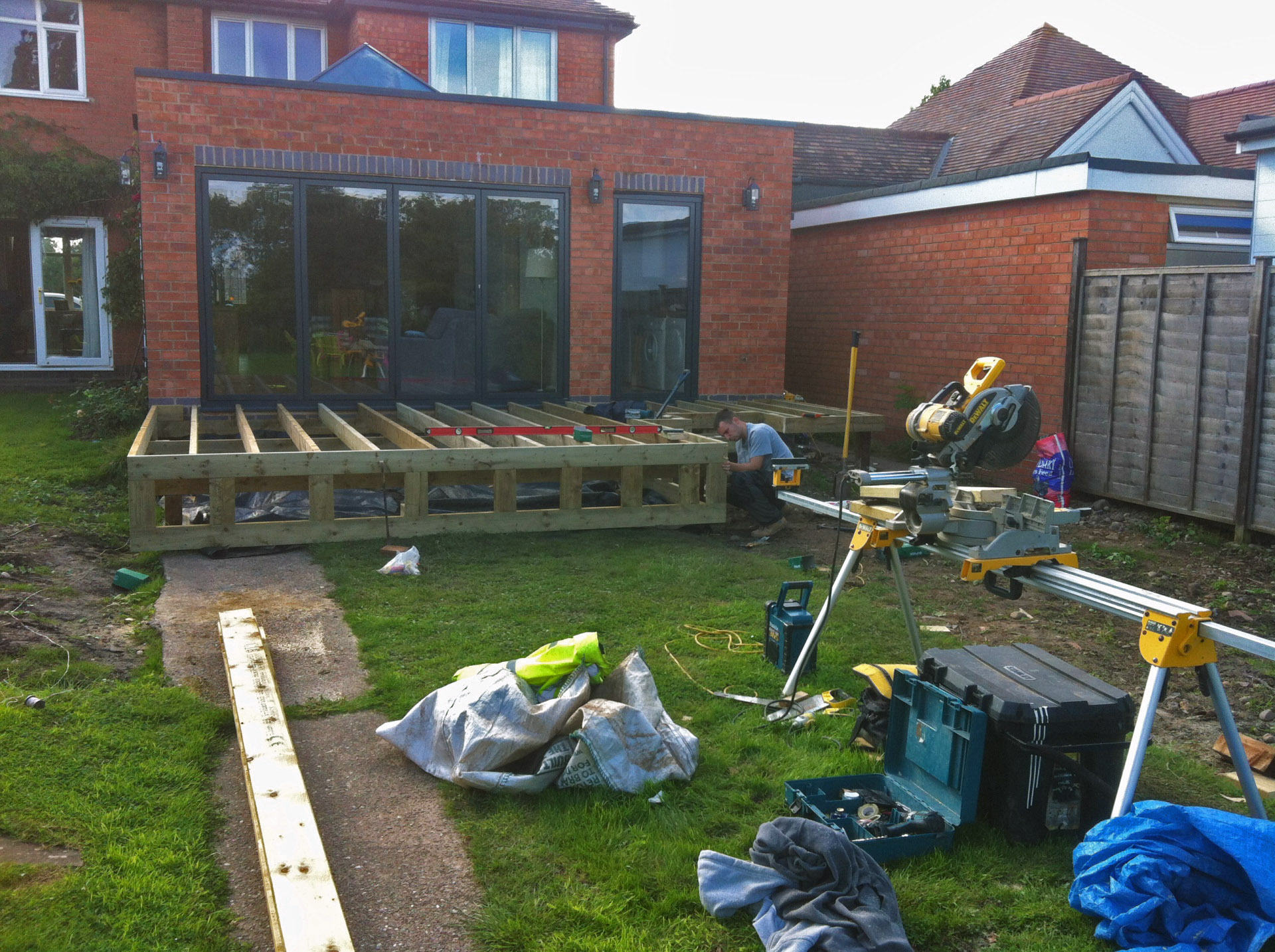 decking fitting in progress midlands