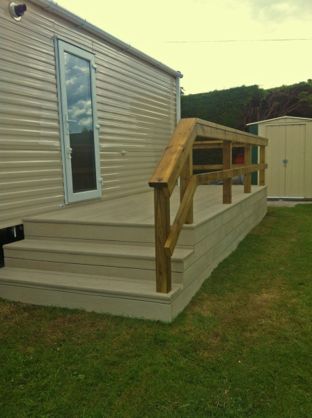 Custom Designed Caravan Decking Bidford