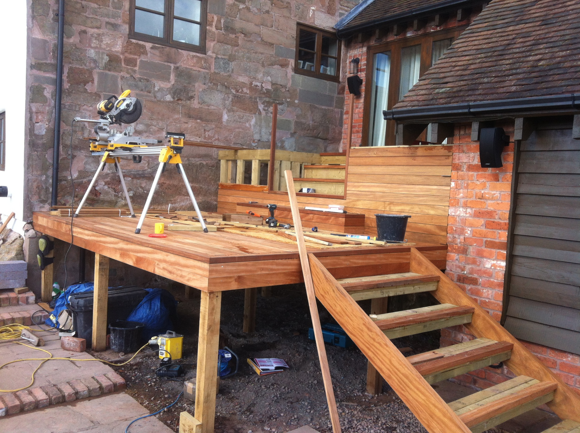 raised platform decking Inkberrow