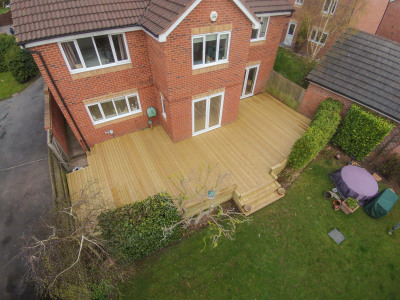 Decking renovation in Redditch near Stratford-Upon-Avon