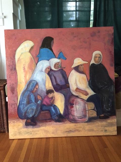 Irit-Weir-Persian-women-waiting-for-a-bus