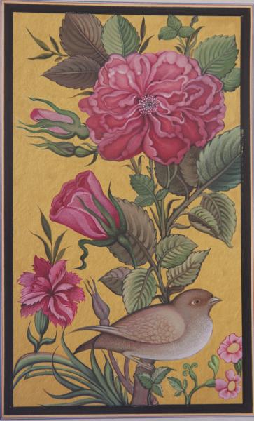 Maryam-Vesal-Flower-and-Bird