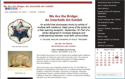 """We Are the Bridge"" Exhibition at the Marin JCC"