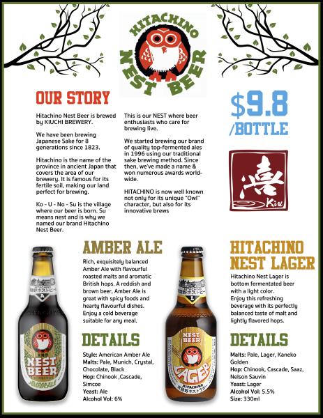 nest beer poster