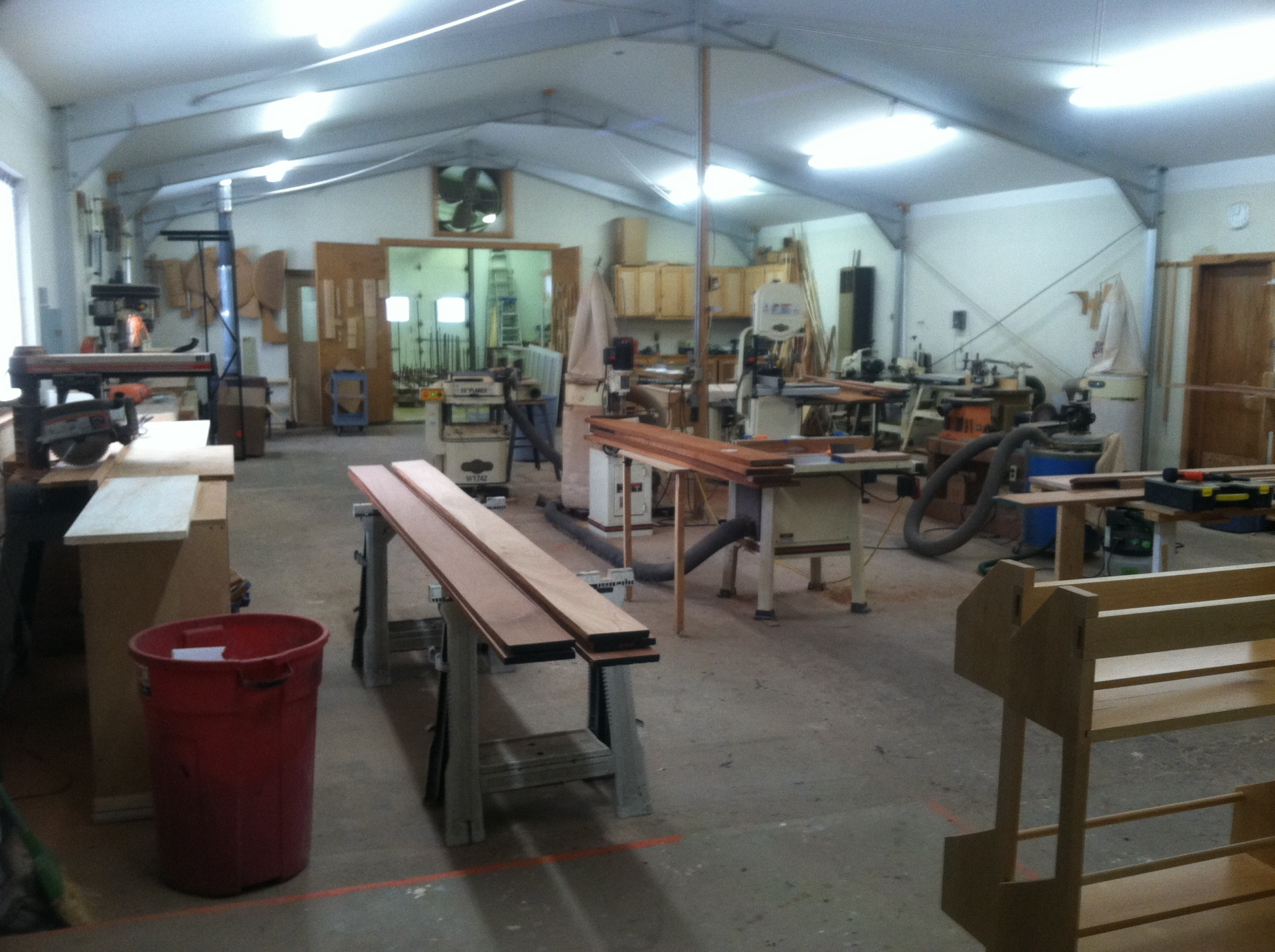Romber Works cabinet shop, woodworking shop