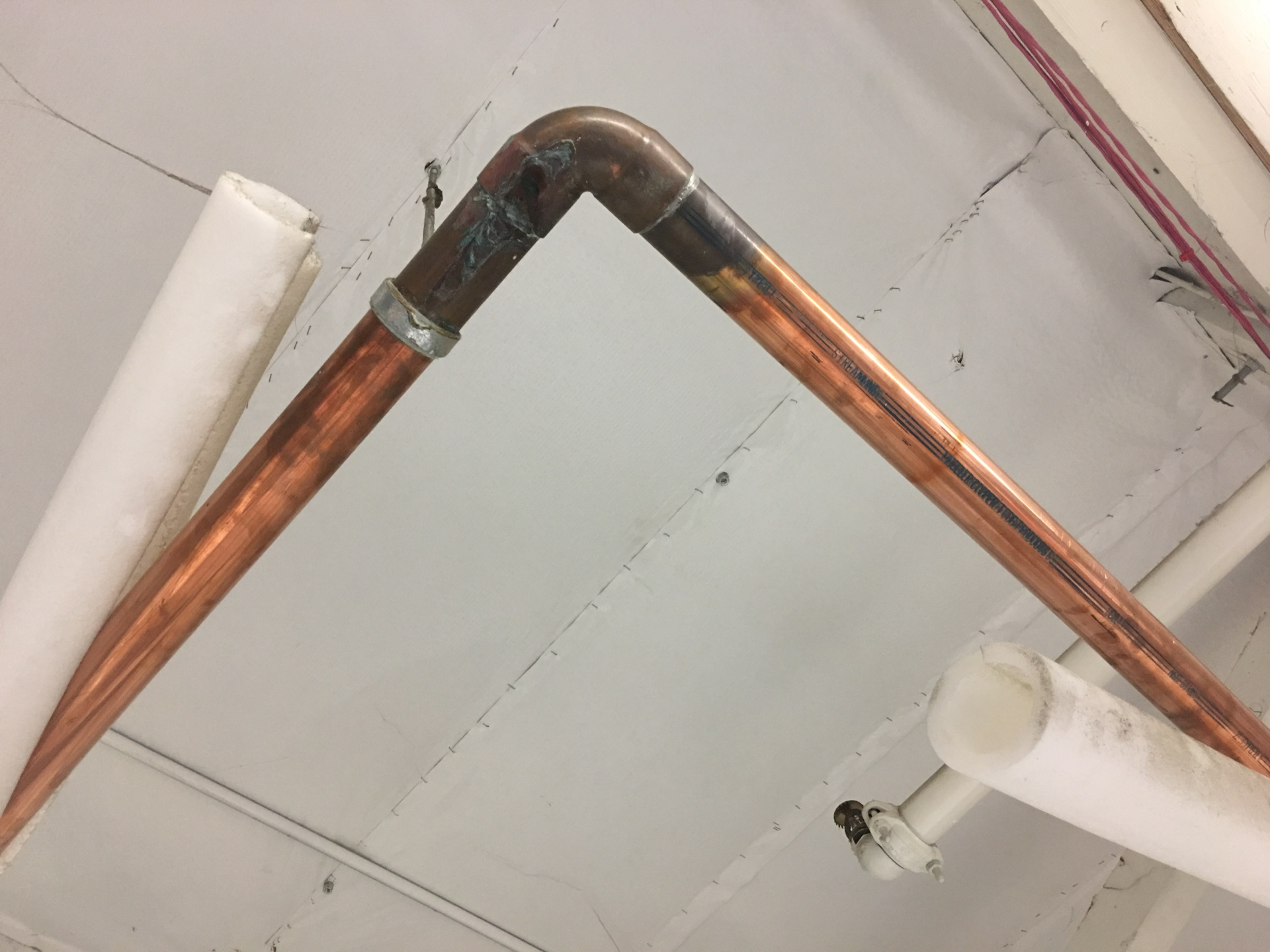 Damaged Copper Water Line