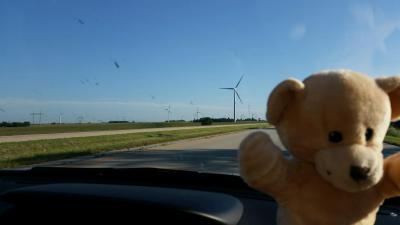 Mikey likes wind power