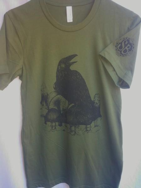 art apparel raven mushroom