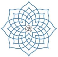 Prenatal Yoga Training Centre logo - Lotus with Aum symbol at centre