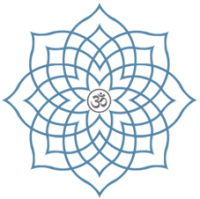 Prenatal Yoga Training Centre logo - Lotus with Aum symbol at centre