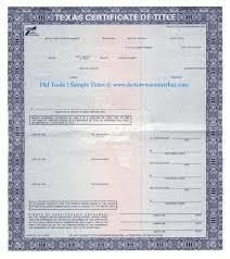 CERTIFICATE OF TITLE  SURETY BOND