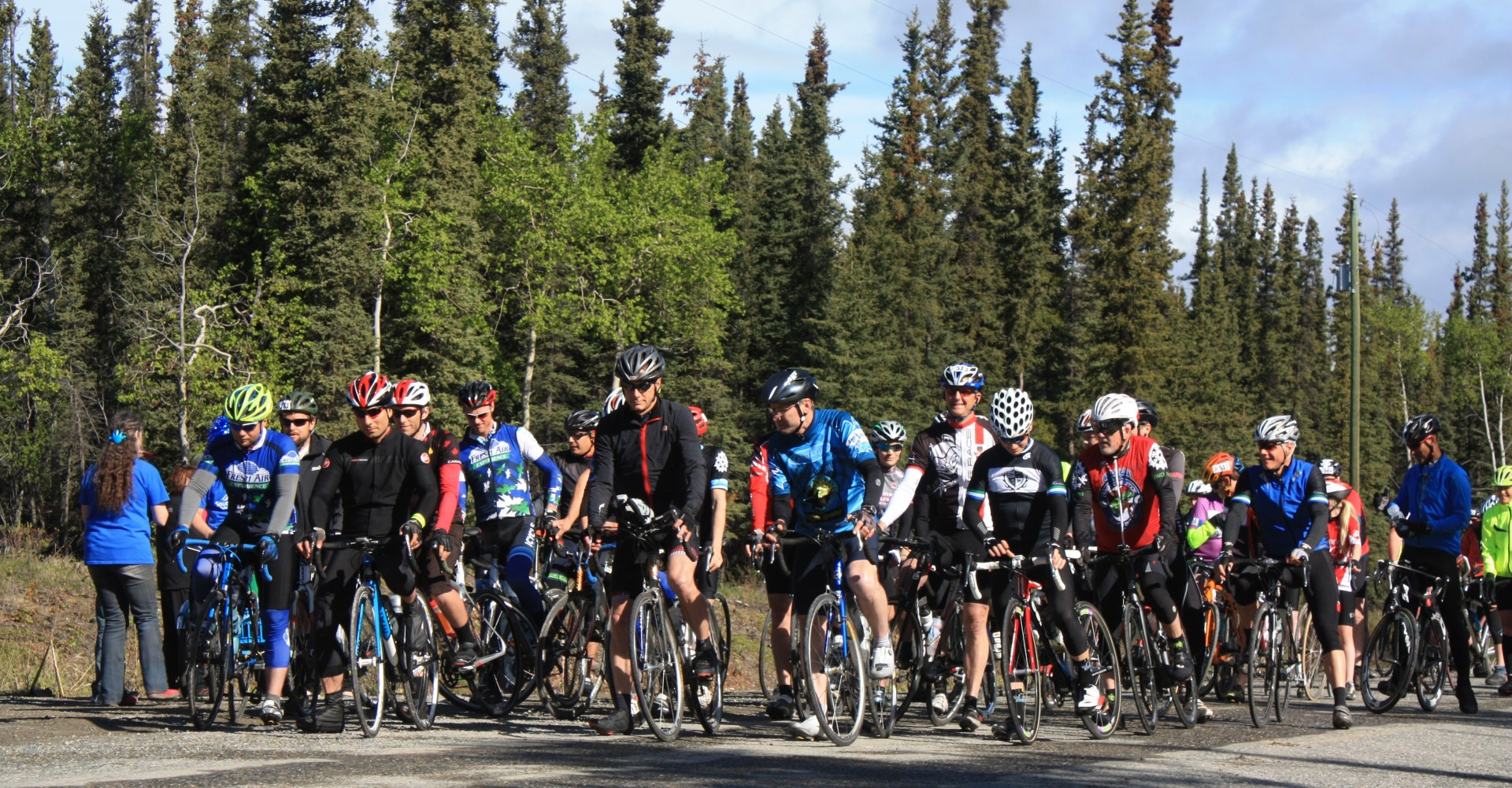 At the Start of the 2017 Southern Lakes Yukon GranFondo