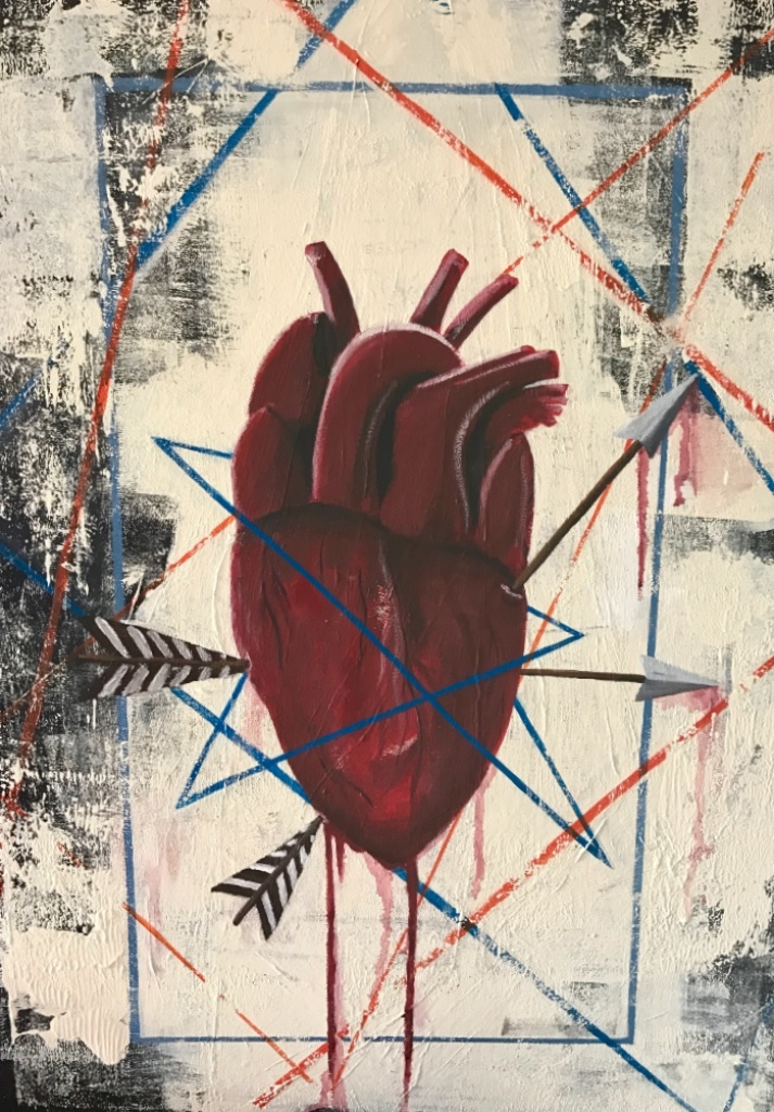 "SOLD - ""yah heart don't stand a chance"""