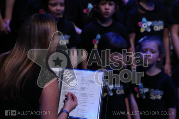 Hayley Steere and AllStar Choir Singers