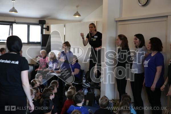 AllStar Choir and Choir Belles Backstage
