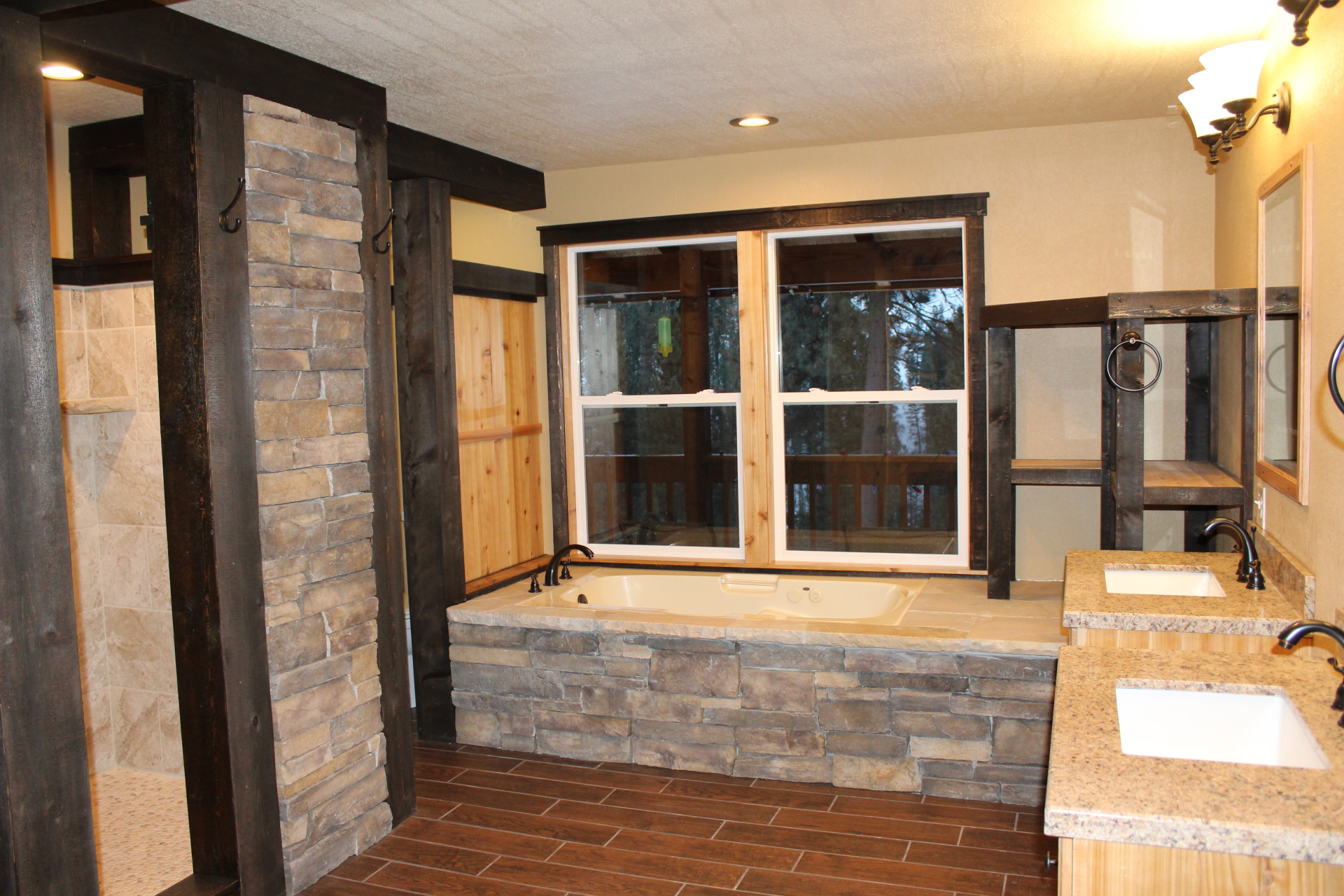 Master Bath with Stone Accents