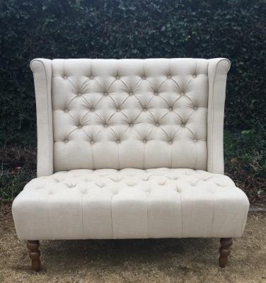Queen Anne High Back Sofa
